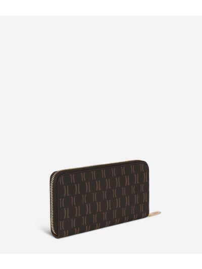 Monogram Zip-around Wallet Dark Buff