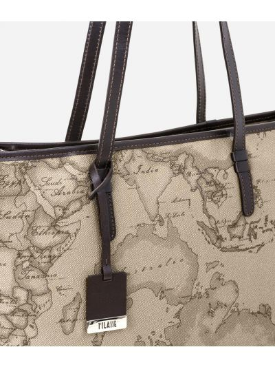 Geo Tortora Medium shopping bag