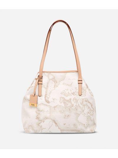 Geo White Medium shoulder bag