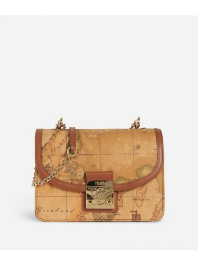 Geo Classic Crossbody bag with snap closure