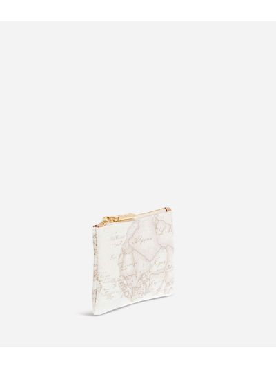 Geo White Rectangular pouch