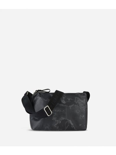 Geo Soft Black Small crossbody bag