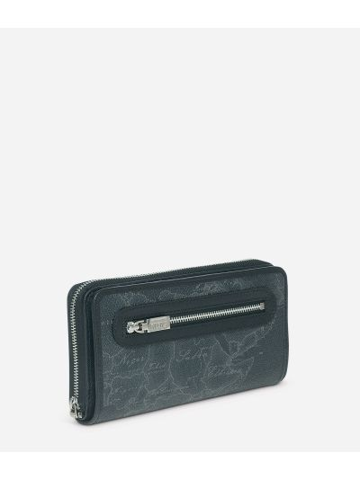 Geo Black Large zipped wallet