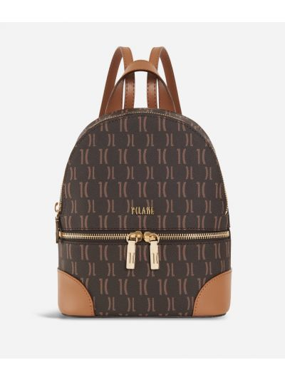 Monogram Medium Backpack Dark Buff
