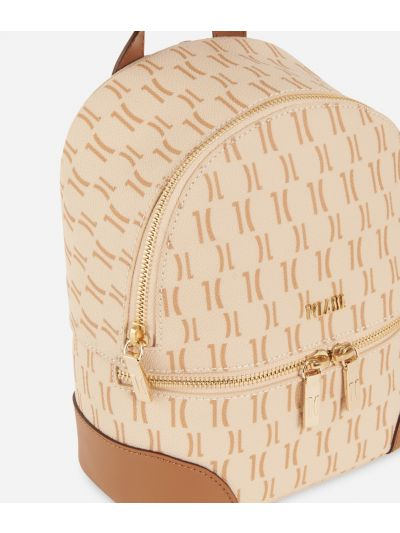 Monogram Medium Backpack Cream