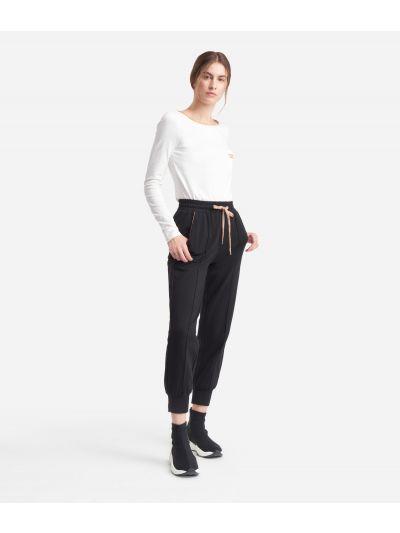 Jogging pants in fleece Black