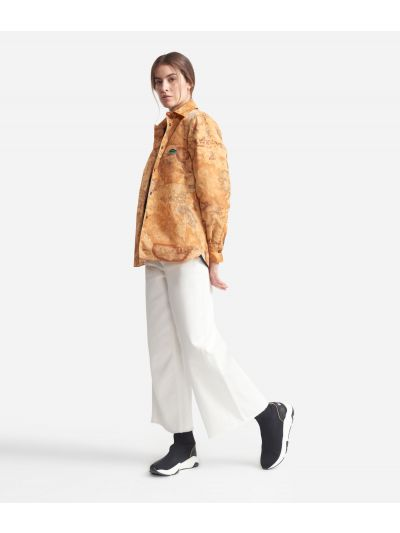 Padded jacket with Geo Classic print