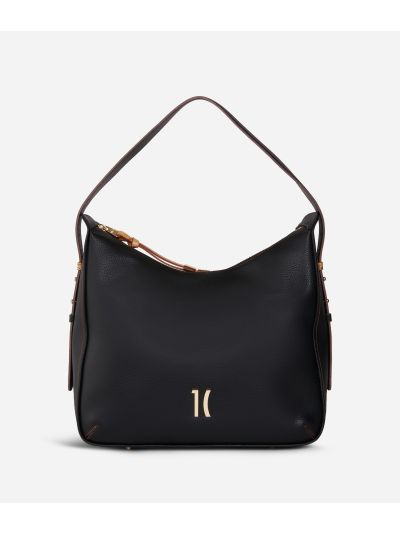 Opera Hobo bag in grainy leather Black