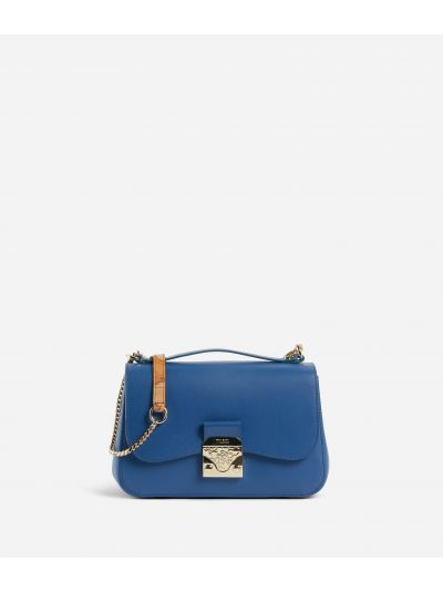 Joy Bag Crossbody bag in smooth cowhide leather Blue