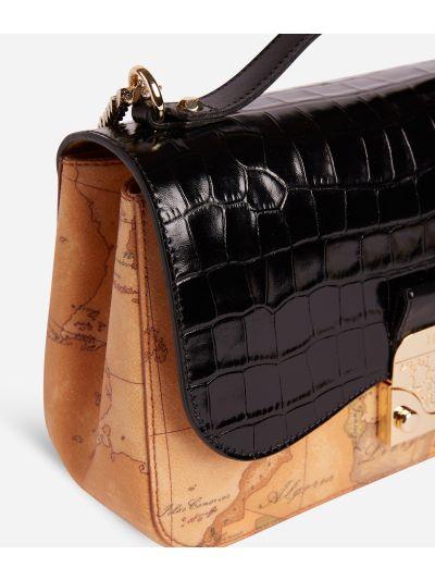 Joy Bag Tracolla in tessuto Geo Classic Nera