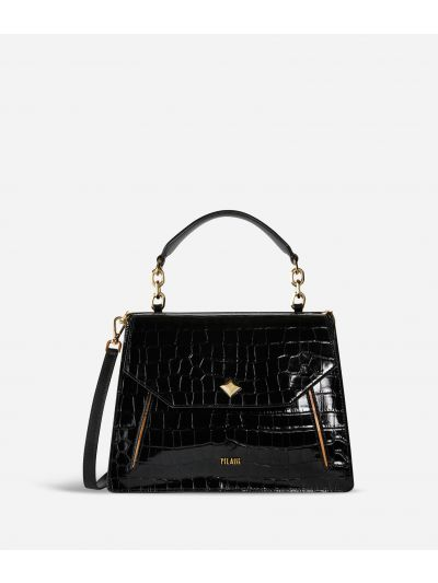 Belle Epoque Handbag in mock-croc calf leather Black