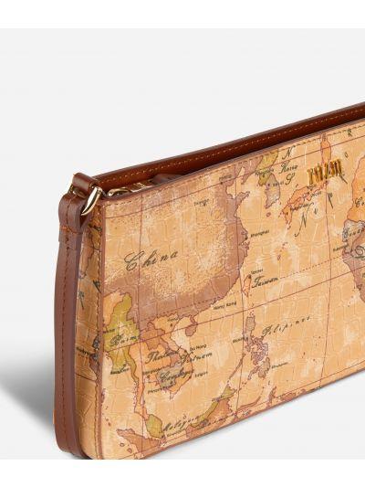 Belle Epoque Pochette in nappa stampa Geo Classic