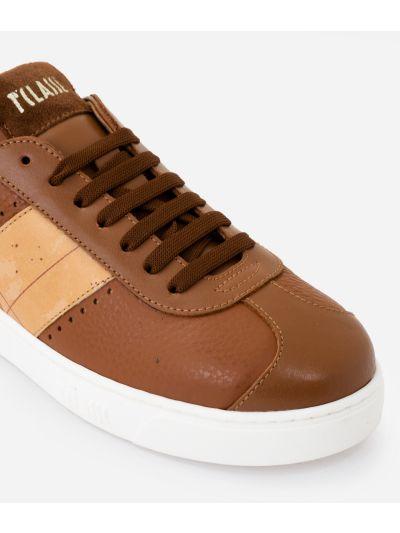Sneakers in cowhide leather Brown