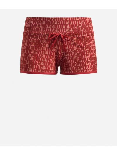 Shorts in lycra stampa Logomania Rossi