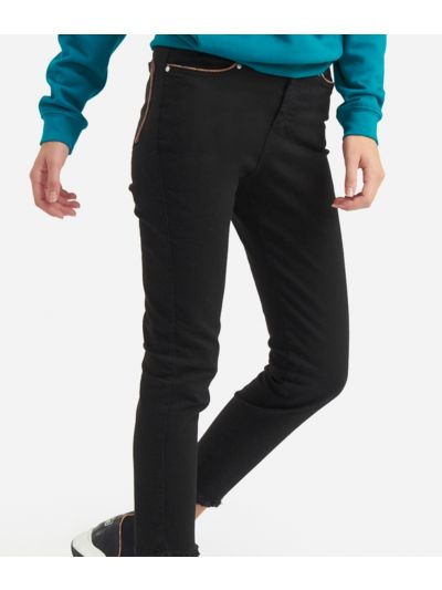 5-pockets skinny pants Black