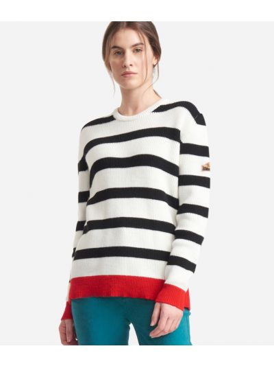 Striped sweater White and Black