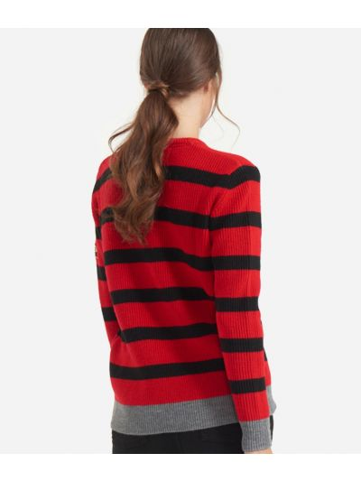 Striped sweater Red and Black