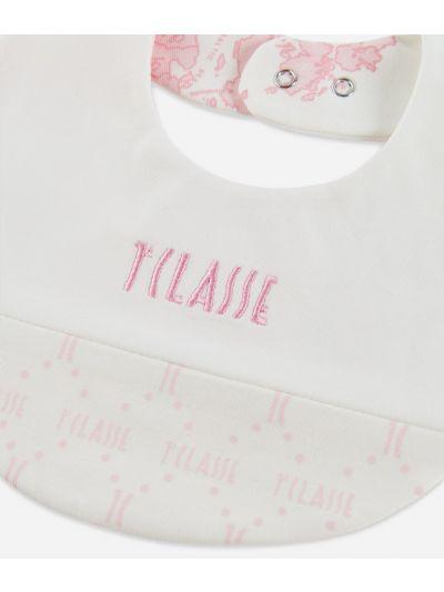 Bavaglino in cotone stampa Geo Pink