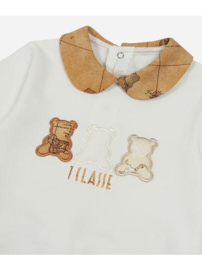 Completo due pezzi con orsetti Bianco