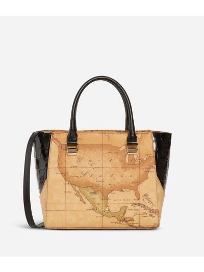 Geo Chic Small Handbag Black