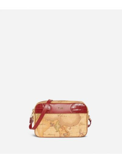 Geo Chic Crossbody Bag Red