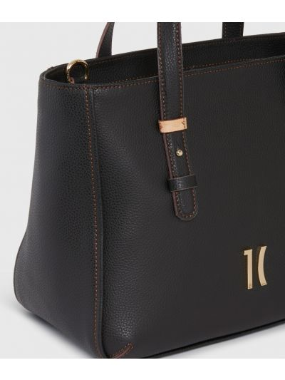Opera Handbag in grainy leather Black
