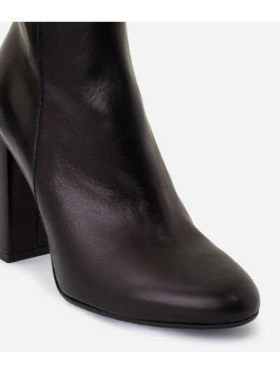 Ankle boots 1C in smooth leather Black