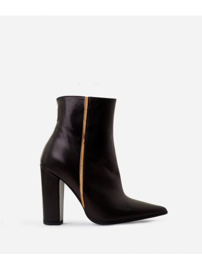 Ankle boots in leather and Geo Classic nappa Black