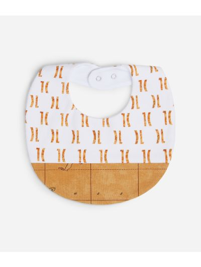 Bib with logo 1C all-over print