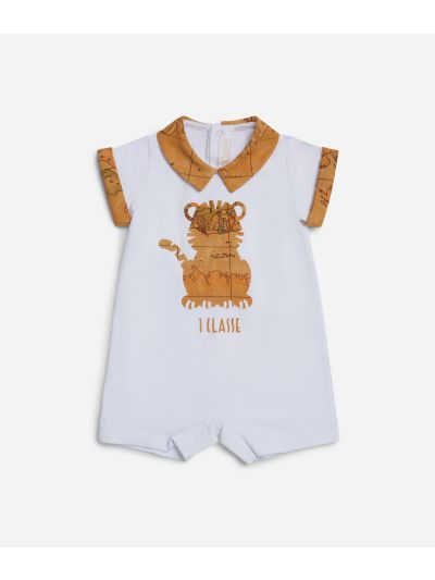 Baby romper with tiger