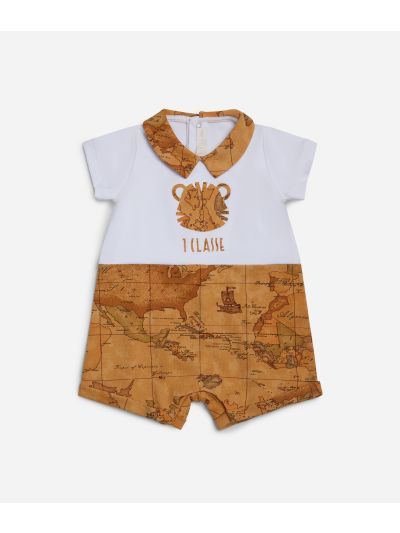 Baby romper with tiger and Geo map