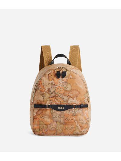 Soft Sound Backpack in soft fabric in Geo Classic print Black