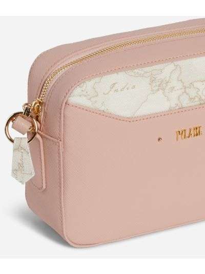 Star City Small crossbody bag with Geo White insert Pink