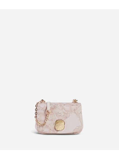 Lady Bag Small crossbody bag  in Geo Nude saffiano embossed fabric
