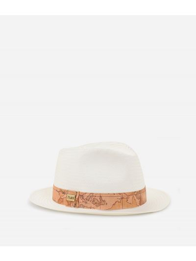 Casual Hat with Geo Classic detail White