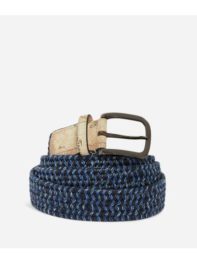 Belt in leather Blue