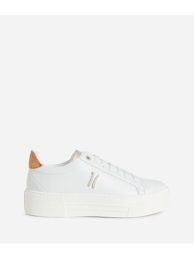 Sneakers 1C in eco-leather White