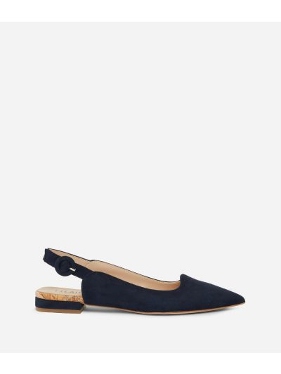 Exclusive Online Slingback in suede leather Blue