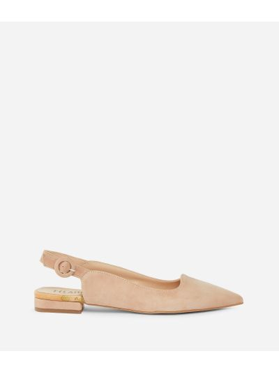 Exclusive Online Slingback in suede leather Pink