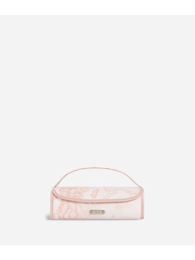Beauty case da viaggio in tessuto Geo rosa