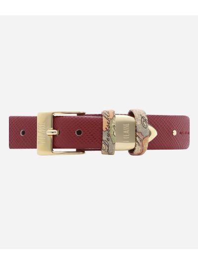 Santorini  Orologio con cinturino in pelle Bordeaux