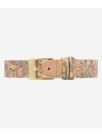 Antigua Orologio con cinturino in pelle stampa Geo Classic Oro