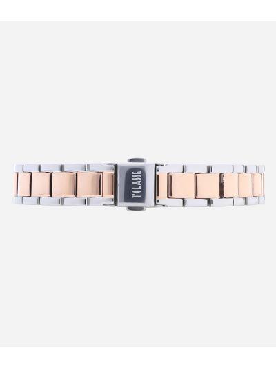 Formentera Orologio in acciaio bicolore argento e oro rosa